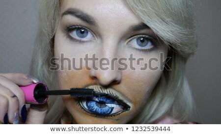 Kadın yüz ayna el Stok fotoğraf © privilege