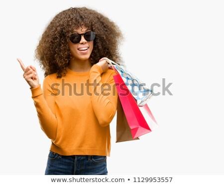 belo · feliz · mulher · jovem · de · mãos · dadas · grato · gesto - foto stock © get4net