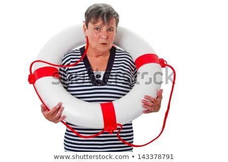 Senior woman with lifebelt Stock photo © Saphira