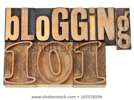 Blogging 101 illustrazione stile di vita web Foto d'archivio © lenm