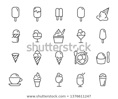 Ice cream icons stock photo © sifis