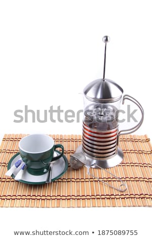 empty cup against Brewed tea Stock photo © shutswis