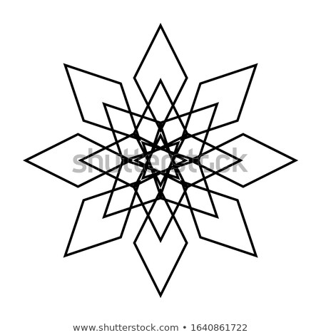 Diamond snowflake. Stock photo © carodi