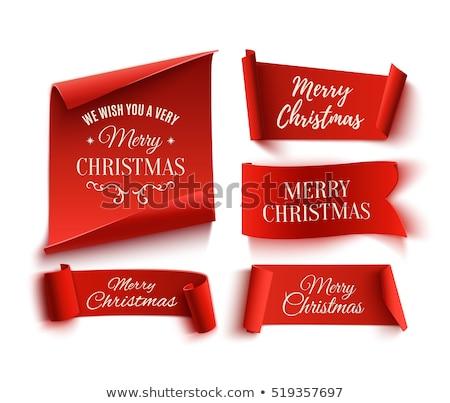 Kerstmis lint christmas pine kegel Stockfoto © fixer00