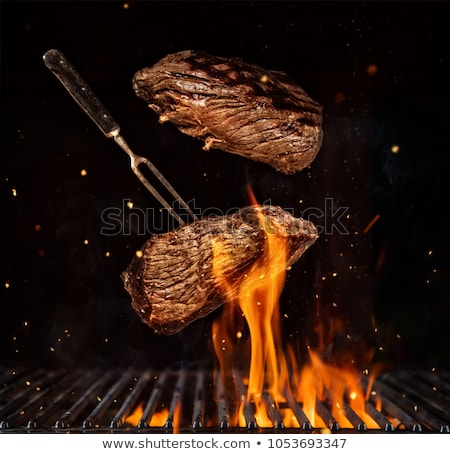 барбекю Допрос продовольствие огня обеда Сток-фото © RachelD32