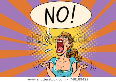 отчаянный женщину кричали лице глазах волос Сток-фото © photography33