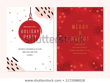 Simple vector red  christmas card illustration Stock photo © orson