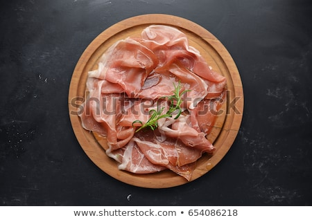 deliscious fresh parma serrano ham slices pork gourmet jamon Stock photo © juniart