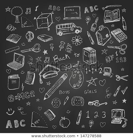 チョーク ボード 手 学校 抽象的な ストックフォト © haiderazim