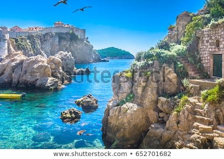 vector · etiqueta · Croacia · color · sello · venta - foto stock © perysty
