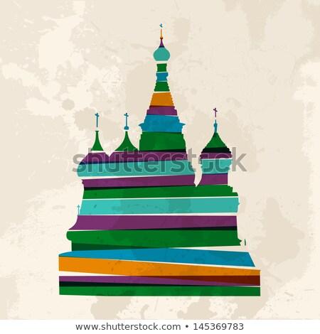 kerk · symbool · structuur · eenvoudige · schets · gebouw - stockfoto © slobelix
