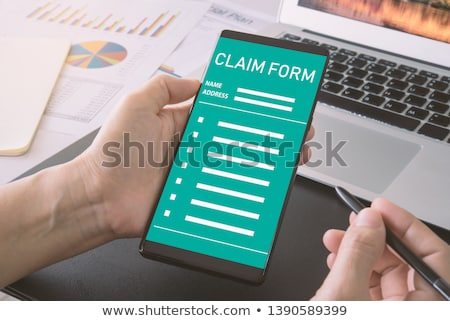 online health benefits claim form stock photo © manaemedia