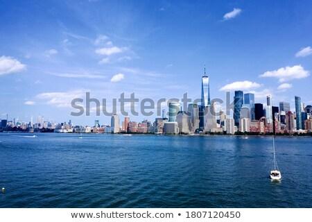 снизить Manhattan Blue Sky облака Нью-Йорк небе Сток-фото © frank11