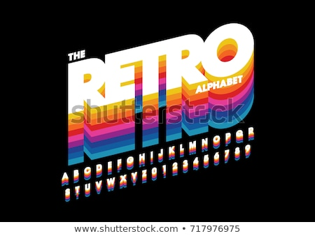 Retro font design Stock photo © szabore