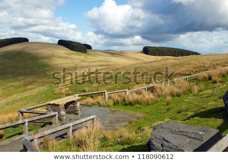 Mynydd Epynt Welsh hills scenic viewing point. Stock photo © latent