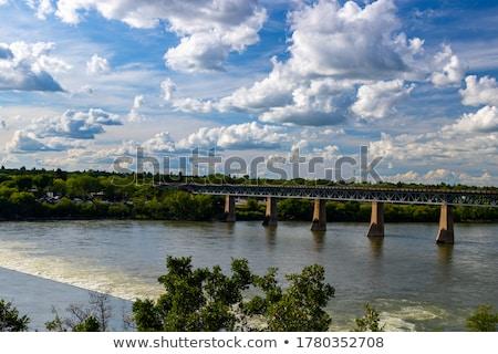 Stock fotó: Dél · Saskatchewan · folyó · tó · gyönyörű · kilátás