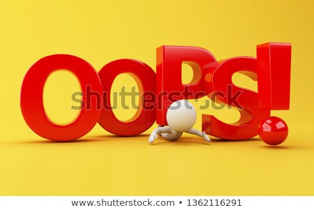 3d small people   crushing question stock photo © anatolym