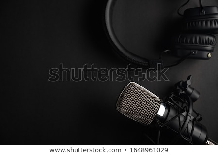 Radyo mikrofon kullanılmış stüdyo taze yeşil Stok fotoğraf © filmcrew