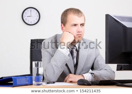 Sıkılmış işadamı büro iş adam tablo Stok fotoğraf © wavebreak_media