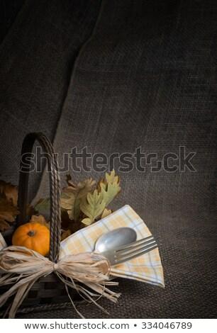 Dankzegging banket uitnodiging pompoenen geweer pistool Stockfoto © Winner