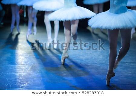 belo · balé · casal · bailarina · preto · saia - foto stock © ra2studio
