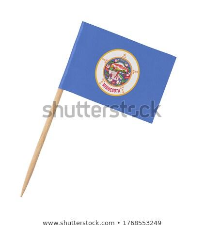 miniatuur · vlag · Minnesota · geïsoleerd · vergadering - stockfoto © bosphorus