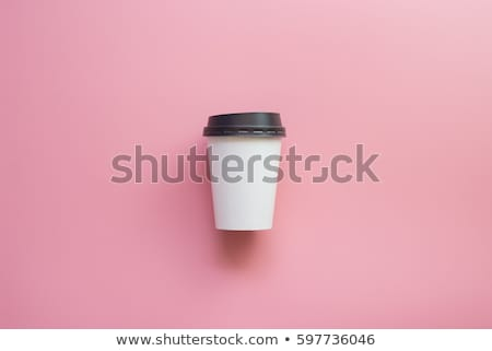 rose · tasse · de · café · alimentaire · café · restaurant · boire - photo stock © phila54