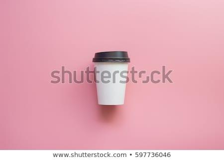 розовый · кофе · Кубок · текстуры · ресторан · пить - Сток-фото © phila54