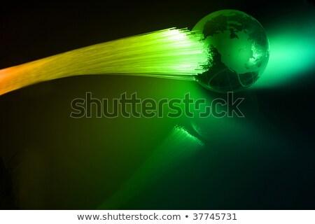 Fibra ottico vs terra mondo luce Foto d'archivio © arcoss