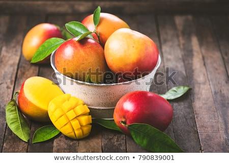 Vers mango voedsel blad Rood tropische Stockfoto © M-studio
