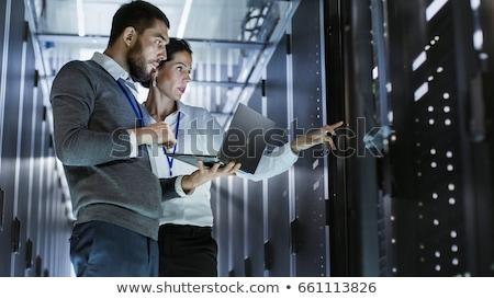 рабочих серверы ноутбука центр обработки данных работу сервер Сток-фото © wavebreak_media