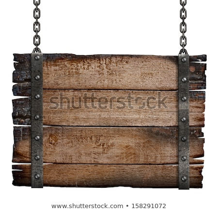 Burning Wooden Sign Stock photo © Lightsource
