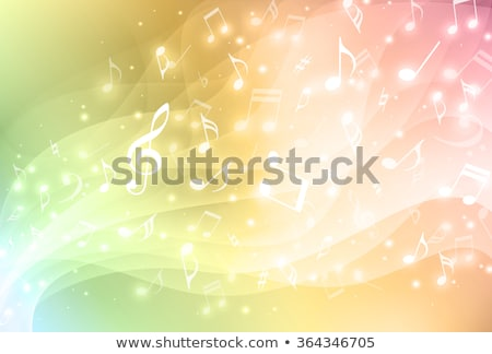 notes · de · musique · musique · silhouette · partition · personnel - photo stock © ramonakaulitzki