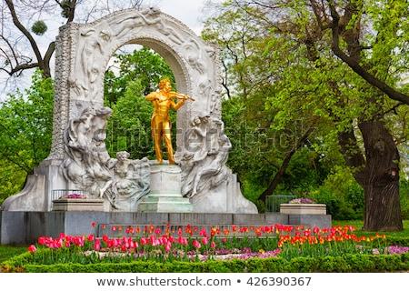 szobor · Bécs · Ausztria · város · arany · építészet - stock fotó © bertl123