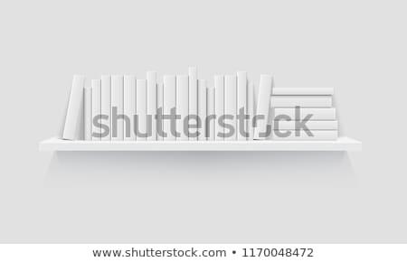 Moderne witte boekenplank muur licht grijs Stockfoto © maxpro