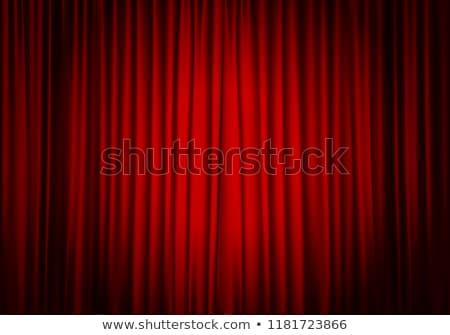 czerwony · kurtyny · Spotlight · etapie · drewna · film - zdjęcia stock © lightsource