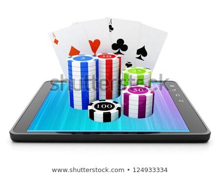 Aplicações cassino jogos comprimido esportes Foto stock © kolobsek