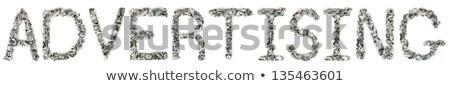hirdetés · 100 · számlák · szó · ki · izolált - stock fotó © eldadcarin