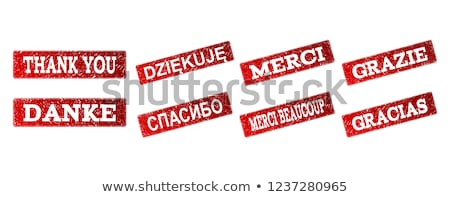 GRACIAS Rubber Stamp stock photo © chrisdorney