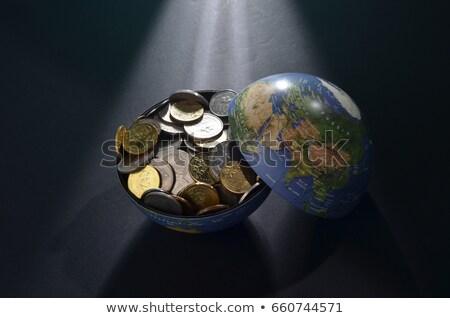 globális · kereskedelem · szavak · világ · pénznemek · nyomtatott - stock fotó © iqoncept
