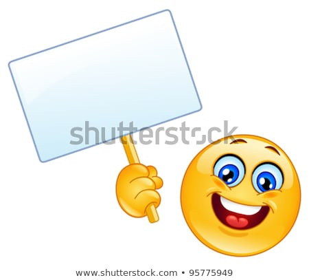 Funny Face Holding a Sign Stock photo © eldadcarin