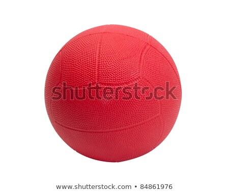 Orange color handball ball the indoor and outdoor sport tool Stock photo © JohnKasawa