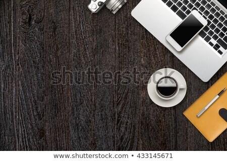 Dettaglio telefono legno desk moderno voip Foto d'archivio © gewoldi