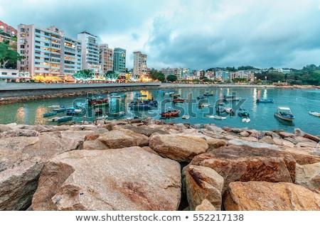 Hong Kong mar oceano viajar rocha barco Foto stock © kawing921