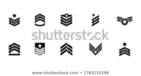 Katonaság szett részletes fegyver sziluettek vektor Stock fotó © vadimmmus