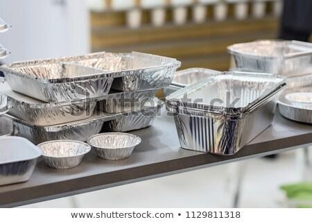aluminium foil tray Stock photo © nito