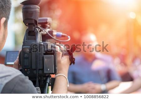 ストックフォト: Television Interview