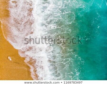 海浜砂 観点 夏 海岸線 海岸 海景 ストックフォト © lunamarina