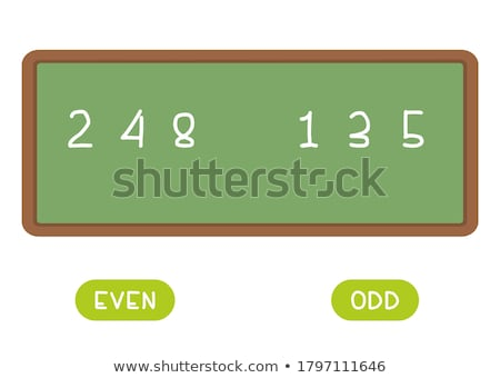 Odd or even, opposite signs Stock photo © stevanovicigor