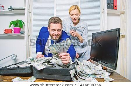 Enorme lucro dólares céu papel natureza Foto stock © grechka333